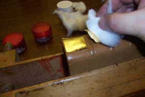 gilding onto leather